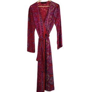 Noir Bene Paris Long Paisley Kimono Robe S
